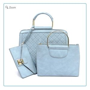 Handbags - NEW Quilted Boxy 3-in-1 Satchel